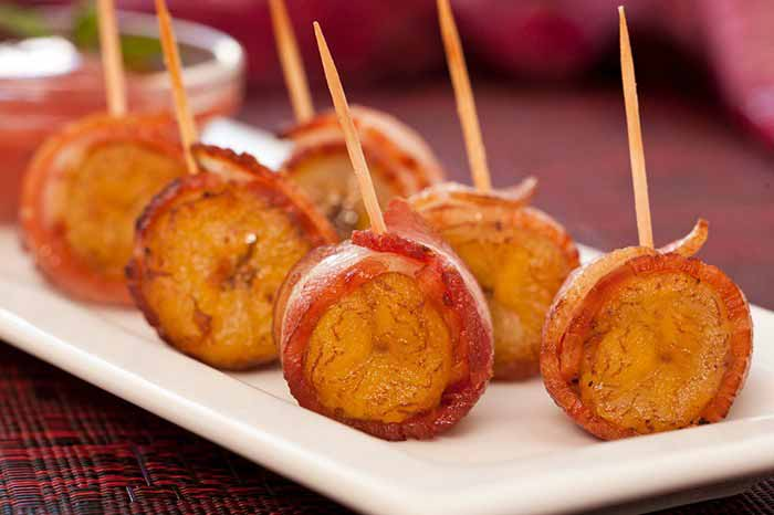 bacon wrapped plantain big banana mic food