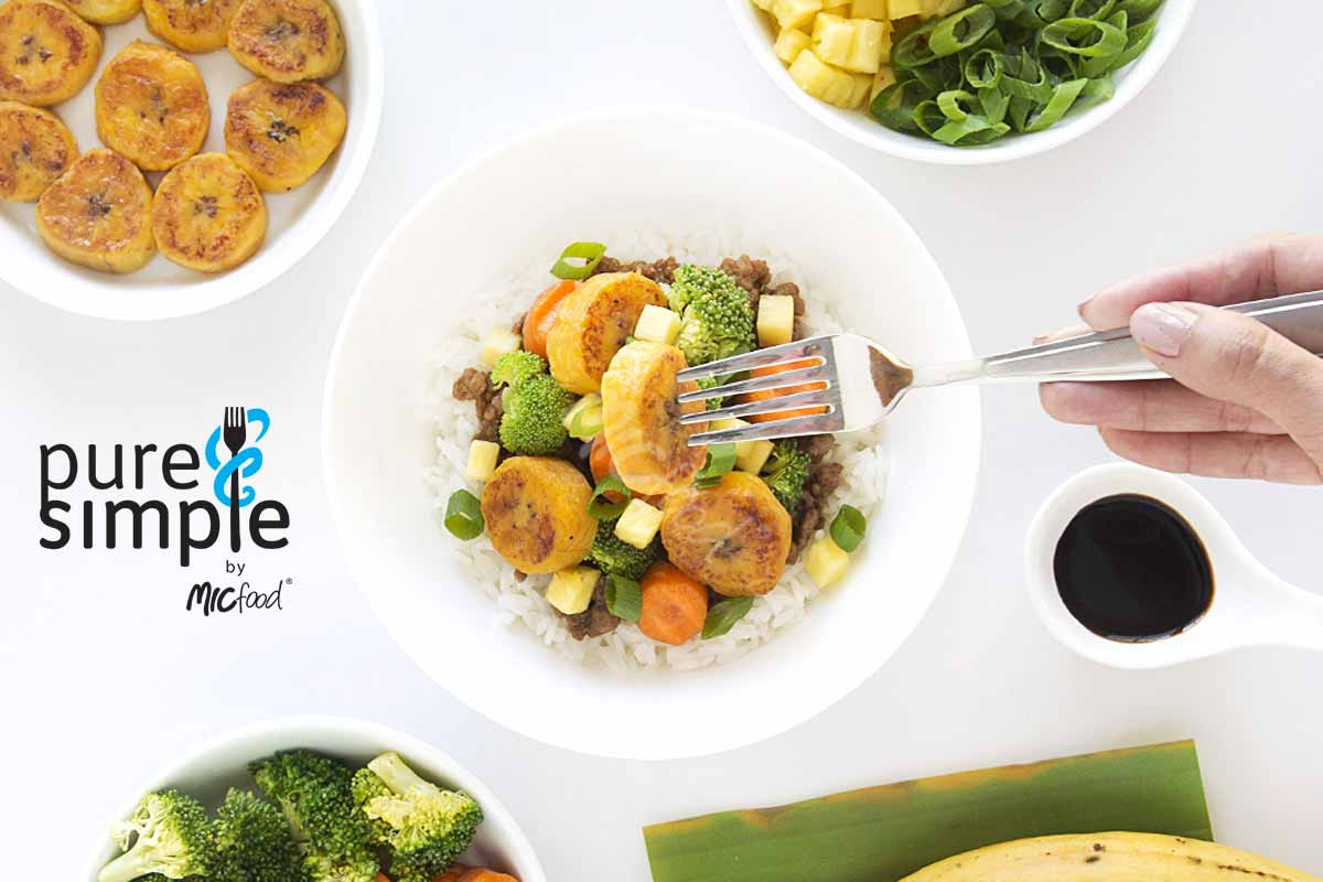 IC Food 3 One Bowl Meals for Spring featuring Pure & Simple Plantain Rounds