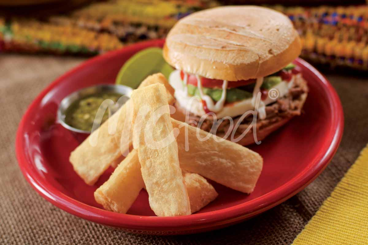 Mexican Torta with Tio Jorge Yuca Fries