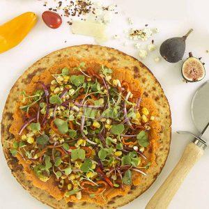 vegetarian Sweet Potato BBQ Corn Pizza