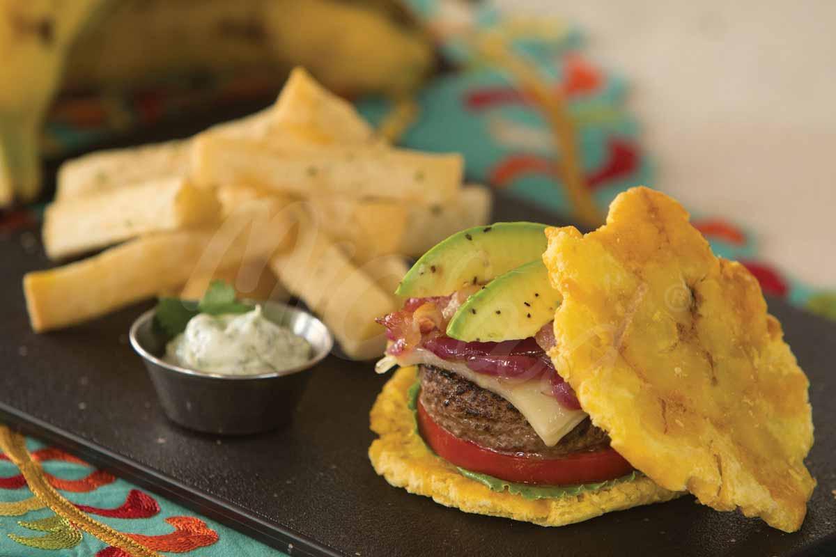 MIC Food California Toston Burger with Yuca Fries