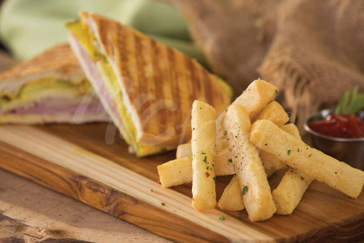 MIC Food Cuban Sandwich with Tio Jorge Yuca Fries